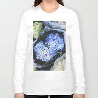 peonies Long Sleeve T-shirts featuring Peonies by Alden Terry