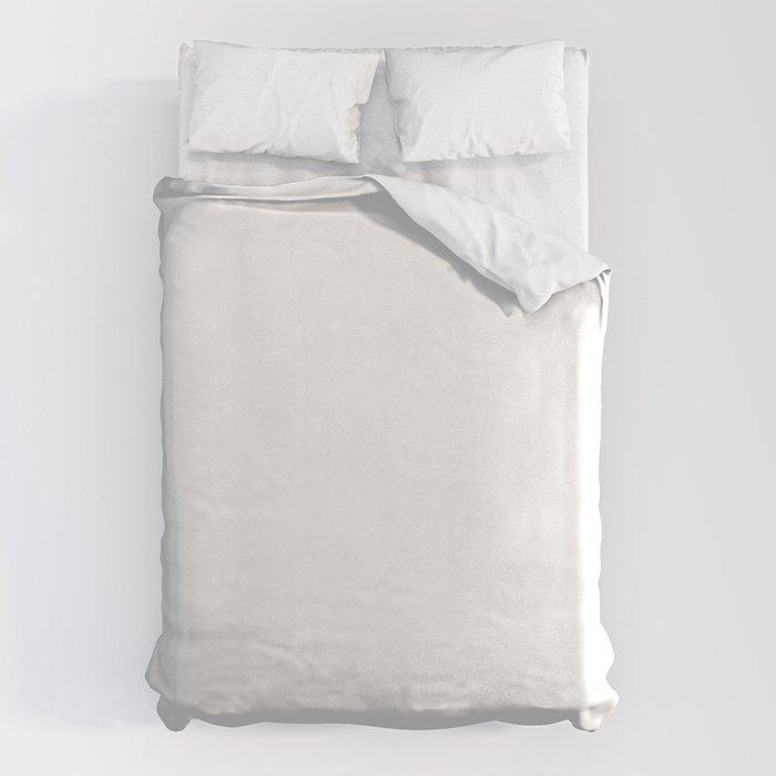 White Minimalist Solid Color Block Spring Summer Bettbezug
