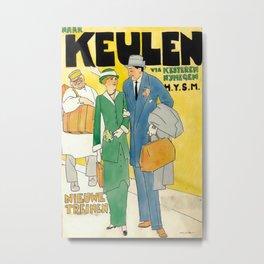 Naar Keulen Vintage Travel Poster Metal Print