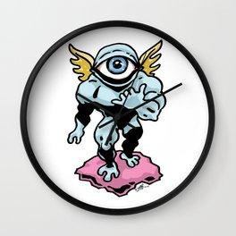 Hang Loose, Winged Eye-Face Wall Clock
