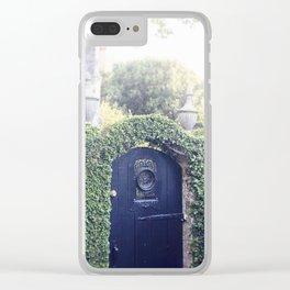 Charleston Black Garden Gate Clear iPhone Case