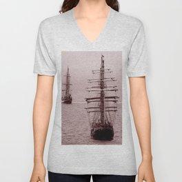 Pirate Ships Unisex V-Neck
