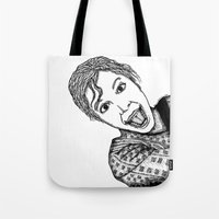 amelie Tote Bags featuring Amelie by Addison Karl