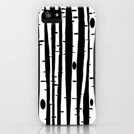 Birchs WHT iPhone Case