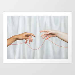 red string of fate Art Print