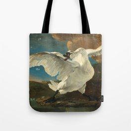 The Threatened Swan by Jan Asselijn Tote Bag