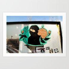 Islamic Flower Street Art Art Print