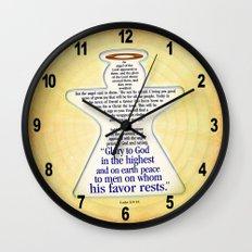 Christmas Angel Wall Clock