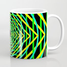 Diamonds in the Rounds Blacklight Neons Yellow Greens Coffee Mug