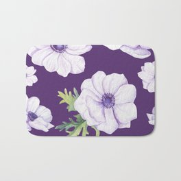 Anemones Purple #society6 #buyart Bath Mat