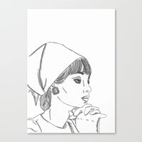 cassandra jean Canvas Prints featuring Jean by PintoQuiff