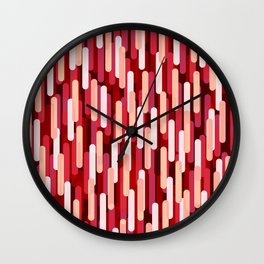 Fast Capsules Red Wall Clock