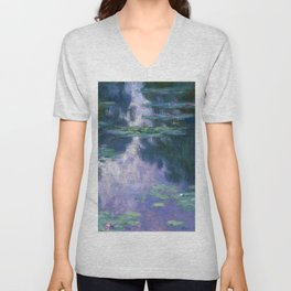 12,000pixel-500dpi - Claude Monet - Water Lilies 1907 - Digital Remastered Edition Unisex V-Neck