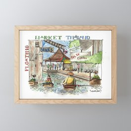 Thailand:  Floating Market Framed Mini Art Print