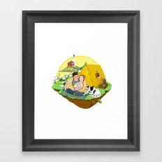Custom Illustration for Emma and Edward Framed Art Print