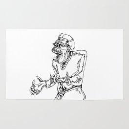 Werewolf Transformation in Ink Rug