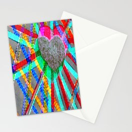 Multi Heart Rays 1 Stationery Cards