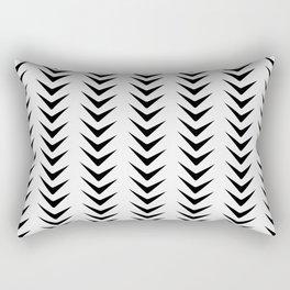 White Smoke Chevron Line Mid-Century Arrow Shapes Rectangular Pillow