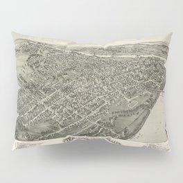 Aerial View of Parkersburg, West Virginia (1899) Pillow Sham