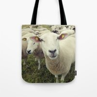 sheep Tote Bags featuring Sheep by Falko Follert Art-FF77