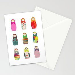 Russian Dollz Stationery Cards