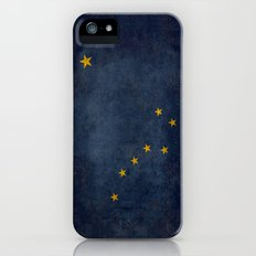 Alaskan State Flag, Distressed worn style iPhone (5, 5s) Slim Case