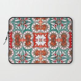 Seamless Floral Pattern Ornamental Tile Design : 7 Laptop Sleeve