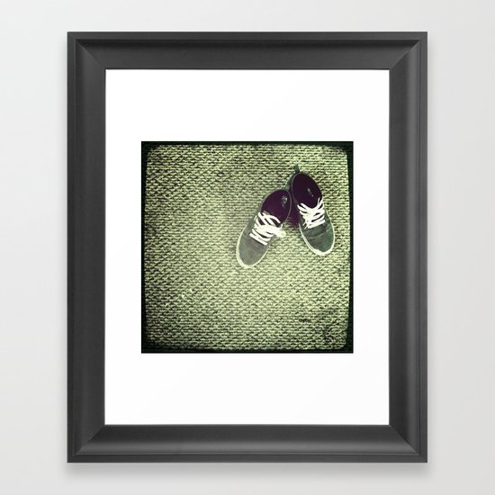 "I spell grey with an ""E"" Framed Art Print"