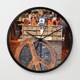 Peace & BKNY Wall Clock