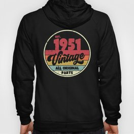 1951 Vintage Design, Birthday Gift Tee. Retro Style Product Hoody