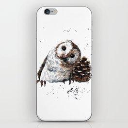 Owl + Pine Cone iPhone Skin