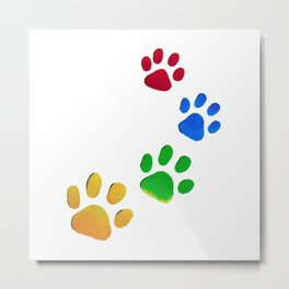 Dog Paw Painting Metal Print