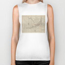 Vintage Map of The Florida Keys (1771) Biker Tank