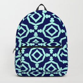 Navy Aqua Trelllis Backpack