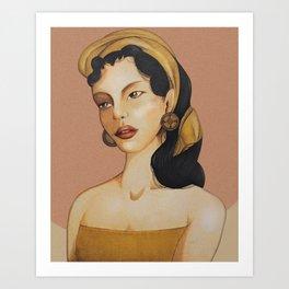 Balinese Lady Portrait Art Print