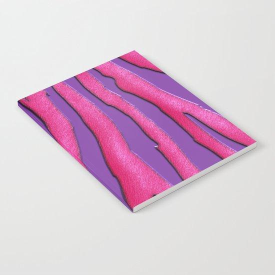 Bright Purple & Pink Zebra Print Notebook