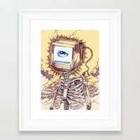 computer Framed Art Prints featuring COMPUTER by Witnesstheabsurd