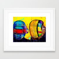 daft punk Framed Art Prints featuring Daft Punk by Archan Nair