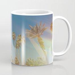 Palm Springs,California Palm Trees Sunburst Coffee Mug
