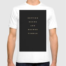 getting drunk and browse tumblr MEDIUM Mens Fitted Tee White
