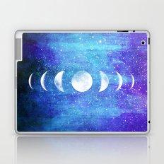 Lunar Cycle // Blue Purple Space Laptop & iPad Skin