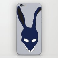donnie darko iPhone & iPod Skins featuring Donnie Darko by The Silence