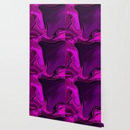 Abstract Digital Design - Purple Flare Twirl Wallpaper