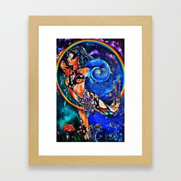 Dance of the Universal Light Framed Art Print