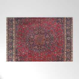 Old Century Persia Authentic Colorful Purple Blue Red Star Blooms Vintage Rug Pattern Welcome Mat