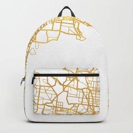 MELBOURNE AUSTRALIA CITY STREET MAP ART Backpack