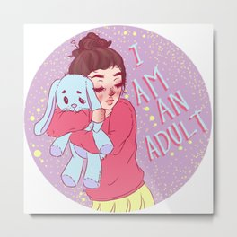 I am an adult. by Ane Teruel Metal Print