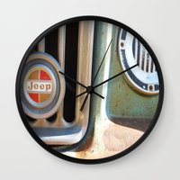 jeep Wall Clocks featuring Jeep by AnniarchyDesigns