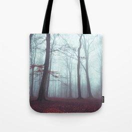 Solstice in Fog - Woodlands in Winter Mist Tote Bag