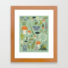 Fairy Garden Framed Art Print